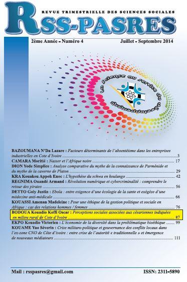 PERCEPTIONS SOCIALES ASSOCIEES AUX CESARIENNES INDIQUEES EN MILIEU RURAL DE COTE D'IVOIRE